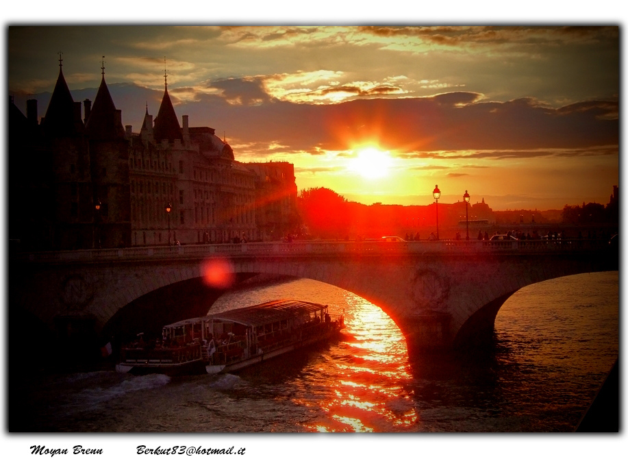 paris seine by Moyan Brenn
