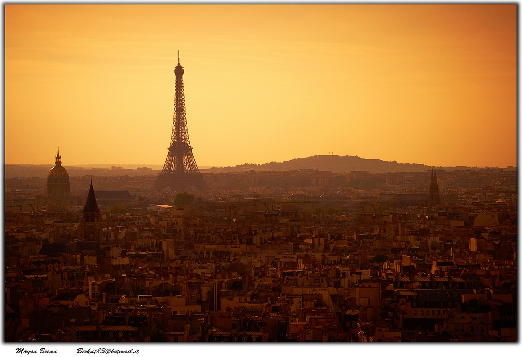 paris skyline by Moyan Brenn