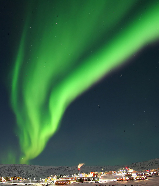 Northern Lights Ilulissat (by Klaus Poulsen)