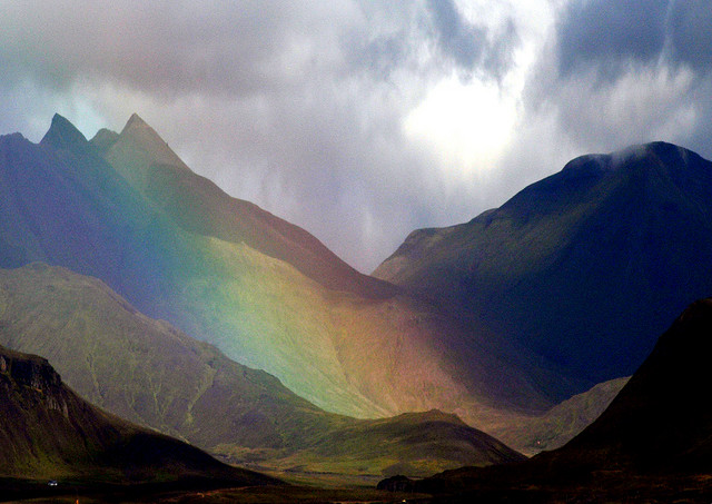 Iceland: Rainbow Volcano by Victor Montol