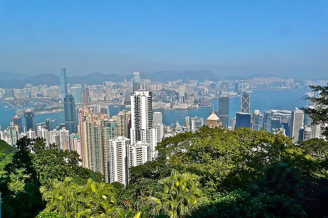 Hong Kong Skyline by Sanfa Media
