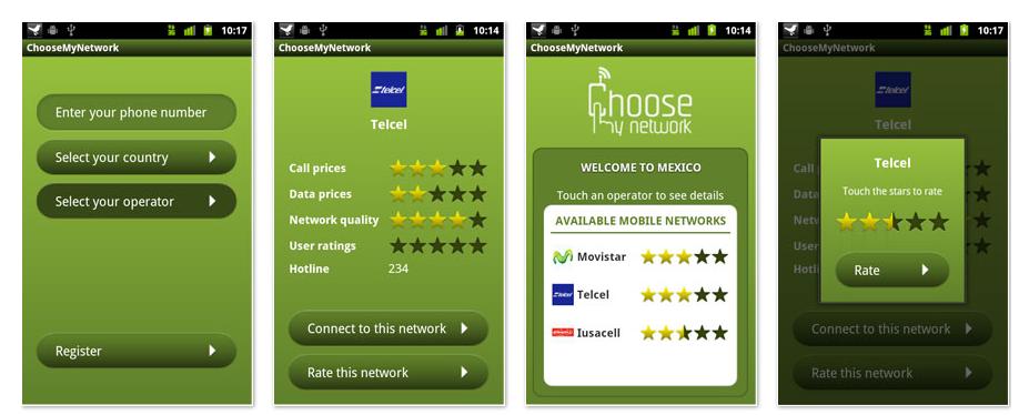 Choose My Network screenshots