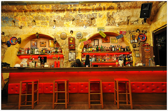 Rhodes Old Town bar by Christian Ghe