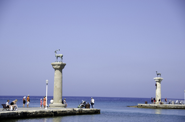 Rhodes-Statue Marking Colossus Feet by Bruce HH