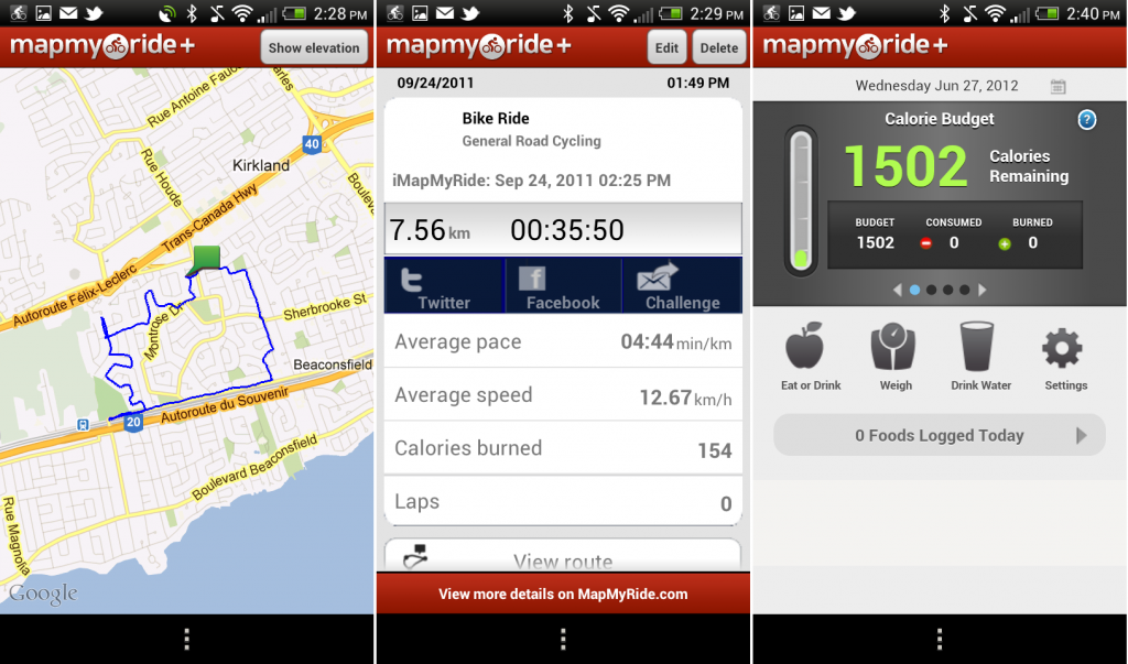 Map My Ride App