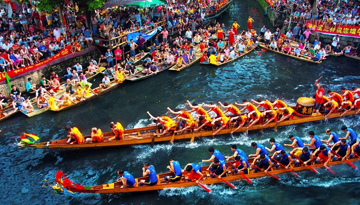 Dragon Boats at Duanwu Festival in Taipei