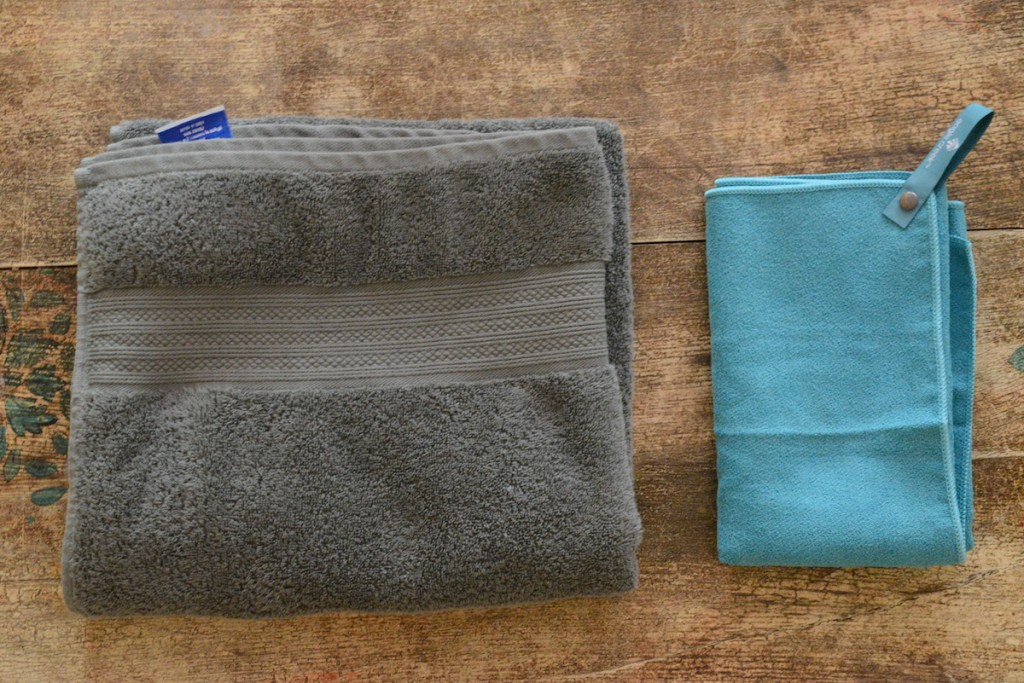 Travel Towel v.s. Normal Towel