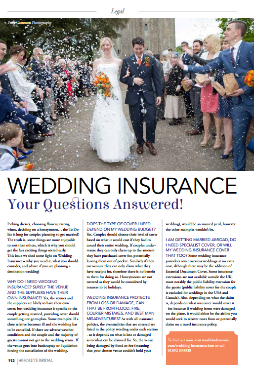 Wedding Insurance Your Questions Answered Worldwide Insure