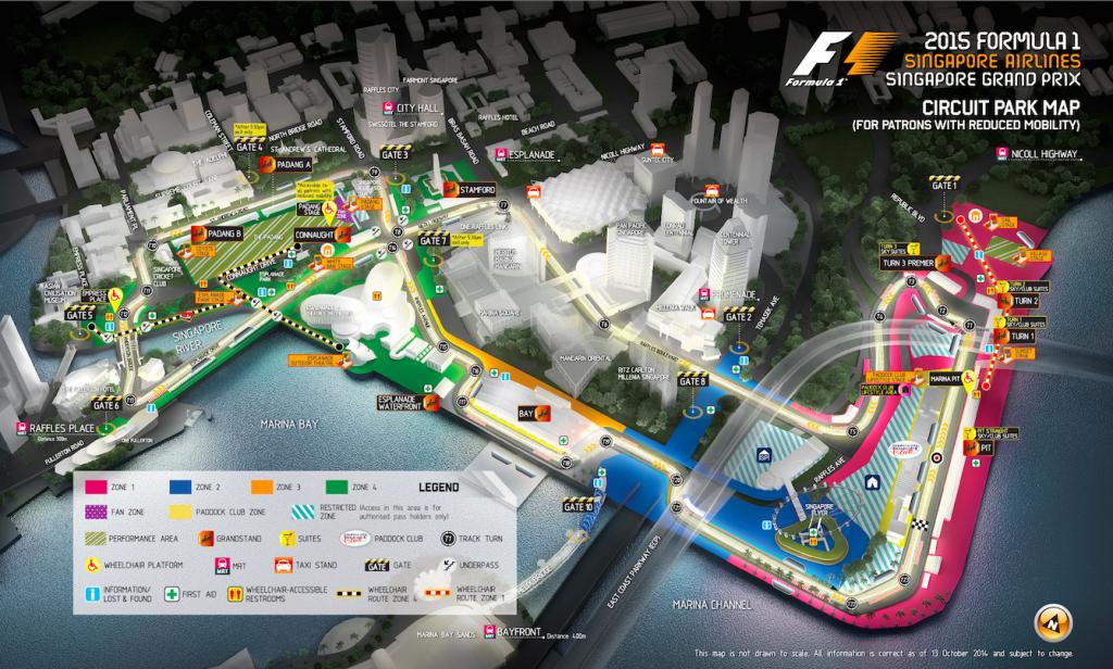 Singapore F1 2015 Map