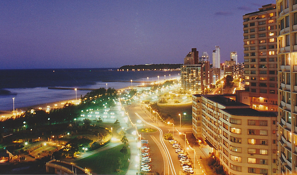 Durban at night. © Image & Design Ian Halsey MMXV
