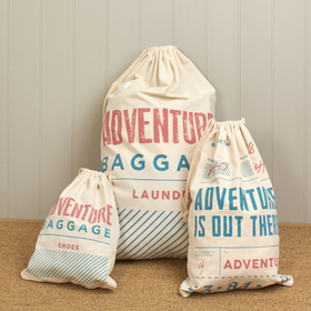 Set Of Three Adventure Travel Bags-£17.00
