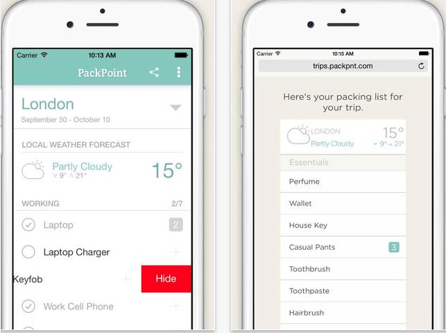 PackPoint Premium screenshot 2