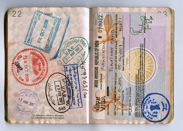 Image of passport and visa by Passport Pages by Jon Rawlinson