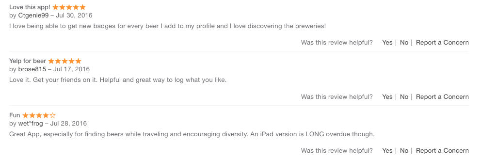 untappd itunes review