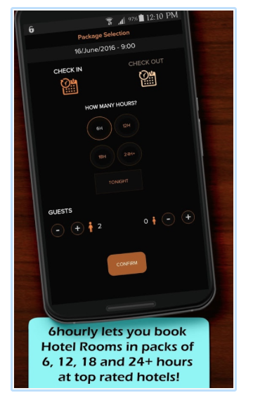 6hourly app screenshot
