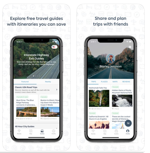 Roadtrippers App Review – Travel App of the Month March 2019