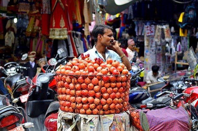 nepal market travel Image