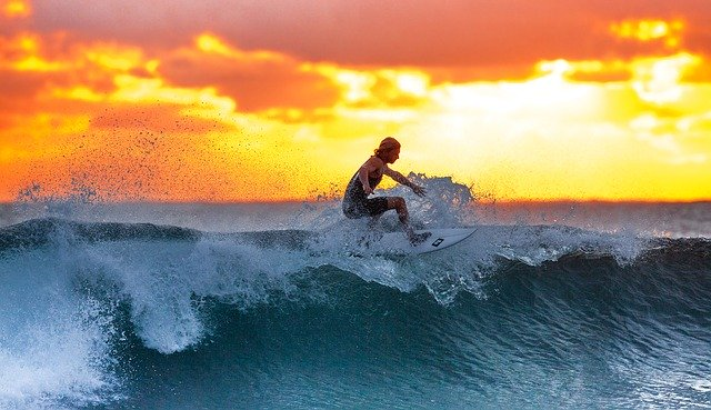surfing holiday Image